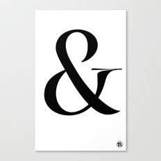 Turquoise's Ampersand Canvas Print