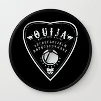 ouija Wall Clocks featuring OUIJA PLANCHETTE by ANOMIC DESIGNS