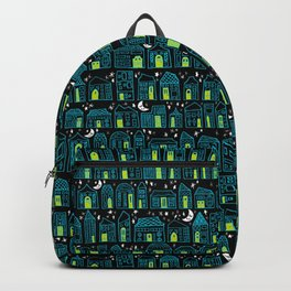 Starry Night in the City - Turquoise & Lime Backpack