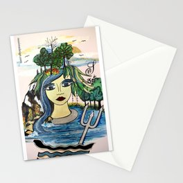 Astrology Aquarius Stationery Cards