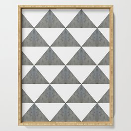 Cement White Triangles Serving Tray