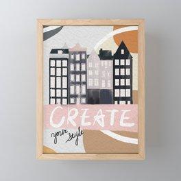 Creat_Amsterdam Netherland Framed Mini Art Print