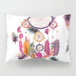 Hipster Watercolor Dreamcatcher Feathers Pattern Pillow Sham