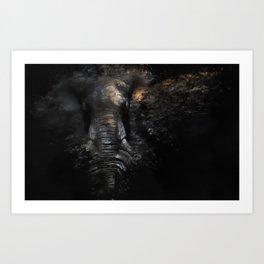 Of African Elephants Art Print