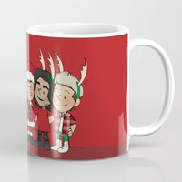 liam payne Mugs featuring It's Christmas, Liam Payne by Ashley R. Guillory