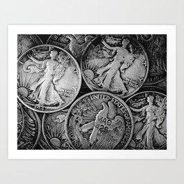 Walking Liberty Coins Art Print