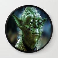 yoda Wall Clocks featuring Yoda by Robin Curtiss