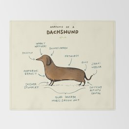Anatomy of a Dachshund Throw Blanket