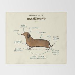 Anatomy of a Dachshund Throw Blanket