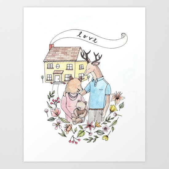 New Family Art Print