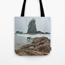 Deer on the Beach Tote Bag