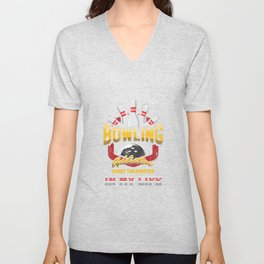 I Tried To Beat My Bowling Bowler Ten Pins Skittles Throwing Sport Gift Unisex V-Neck