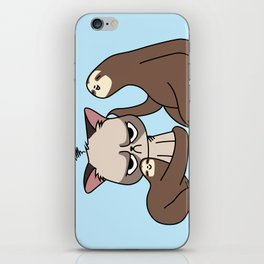 A Hug a Day Keeps the Grumpiness Away iPhone Skin