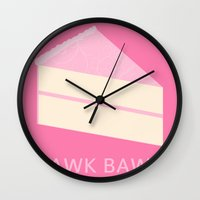 cake Wall Clocks featuring Cake by NeoQlassical