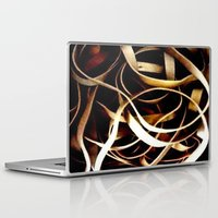bands Laptop & iPad Skins featuring Rubber Bands by Carsick T-Rex