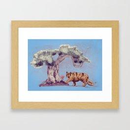 bonzai and tiger Framed Art Print