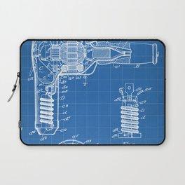 Hair Drier Patent - Salon Art - Blueprint Laptop Sleeve