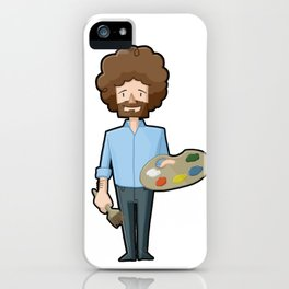 A Happy Little Bob Ross iPhone Case