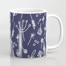 Dandelion Fields (navy) Coffee Mug