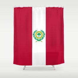 flag of raleigh Shower Curtain