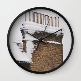 Snow Chimney Sweeps Wall Clock