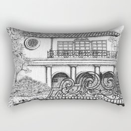 Bel Air Mansion Rectangular Pillow