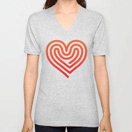 Hot Heart Unisex V-Neck