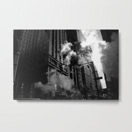 black and white nyc Metal Print