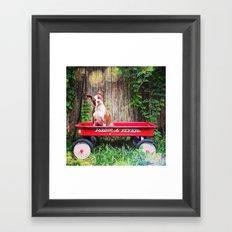 Cuteness in a Wagon Framed Art Print
