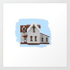 Main Street House 1 - Warren Ohio 100 Art Print