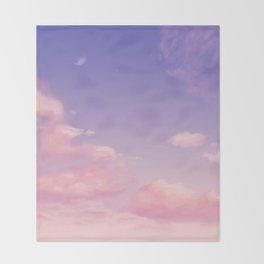 Sky Purple Aesthetic Lofi Throw Blanket