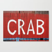 crab Canvas Prints featuring Crab by Shy Photog