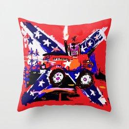 Road Race Pig Throw Pillow