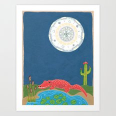 GatorMoon Art Print