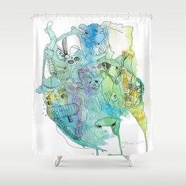 The Supplication Shower Curtain
