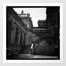 dresden germany staircase  Art Print
