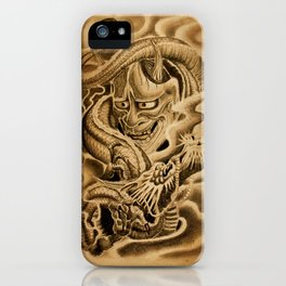 Hannya Dragon iPhone Case