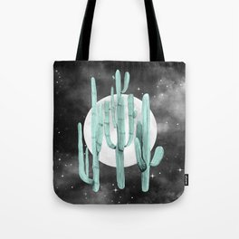 Cactus Nights Full Moon Starry Sky Sage by Nature Magick Tote Bag