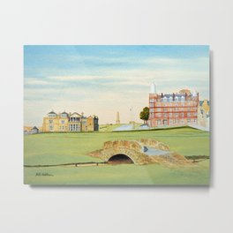 St Andrews Golf Course 18th Hole Metal Print