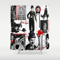 charlie Shower Curtains featuring CHARLIE by BLUE VELVET DESIGNS