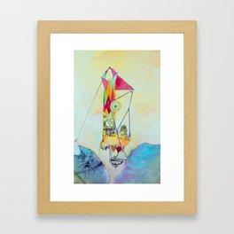 Triangulation Tower Framed Art Print