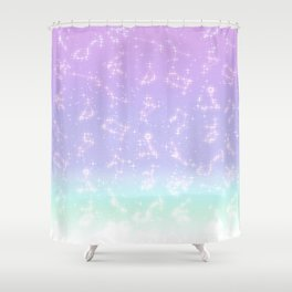 CONSTELLATION (pastel) Shower Curtain