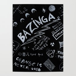 Big Bang Pattern Poster