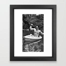 Kayak Beast by Jeff Brewster Framed Art Print