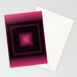 Pink & Square Stationery Cards