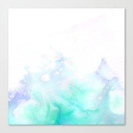 turquoise watrcolor Canvas Print