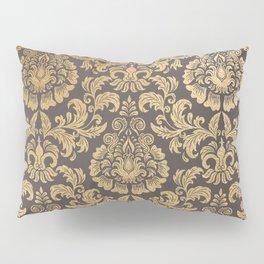 Gold swirls damask #8 Pillow Sham