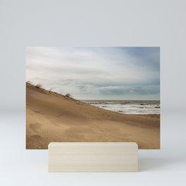 Dutch Dunes Colorful Coastline Photography - Dutch Storm weather- Landscape nature Framed Art print  Mini Art Print