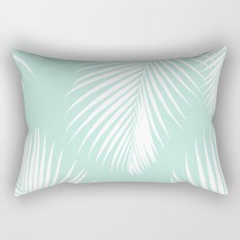 Mint Tropical Pattern Rectangular Pillow