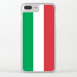 Flag of Italy, High Quality Image Clear iPhone Case